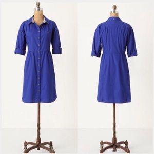 Anthropologie   Odille Lapis Lazuli Shirt Dress